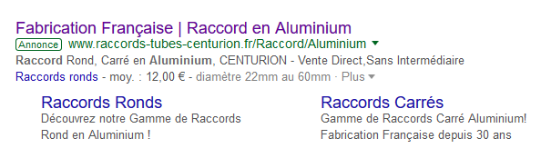 Annonce search Google Ads